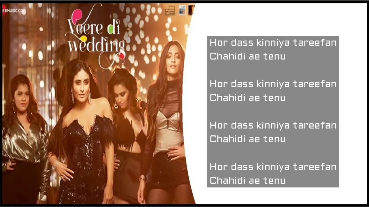 TAREEFAN LYRICS – Veere Di Wedding Song | Badshah - Latest